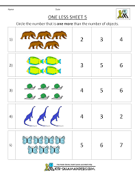 Noun Worksheet Kindergarten Kindergarten Math Printable Worksheets One Less