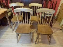 four antique victorian elm u0026 beech kitchen chairs farmhouse