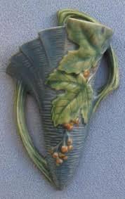 Roseville Vases Ebay Roseville Pottery Teasel Blue Vase Art Of Pottery Ceramics