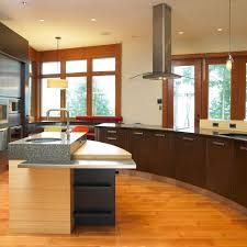 Contemporary Island Lights multi level countertops kitchen modern with island lighting