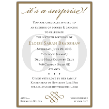 classic 60th birthday gold surprise invitations paperstyle