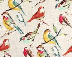 Curtains Birds Theme Bird Valance Etsy