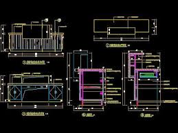 Reception Desk Cad Out Patient Emergency Room Floor Decoration Drawings 2 Free