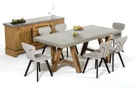 modrest civic modern concrete u0026 acacia 7 piece dining table set