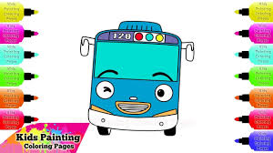 how to draw and coloring tayo bus tayo the little bus coloring