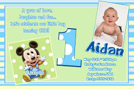 Christening Invitation Card Maker Online Free Printable Mickey Mouse 1st Birthday Invitations Template