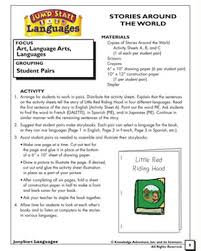 Stories From Around The World Stories Around The World Social Studies And Language Activities