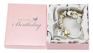 amazon com 16th birthday charm bracelet with hearts stars and amazon com 16th birthday charm bracelet with hearts stars and rings by haysom interiors jewelry