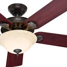 hunter oil rubbed bronze ceiling fan hunter fan 52 traditional ceiling fan onyx bengal bronze finish