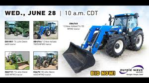ag equipment auction june 28 2017 purple wave youtube