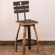 bar stools recycled wine barrel furniture oak barrel bar stools