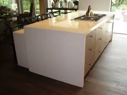 kitchen waterfall edge spice maple style island top glass bar