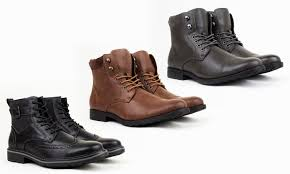 groupon s boots harrison lace up combat boots groupon goods