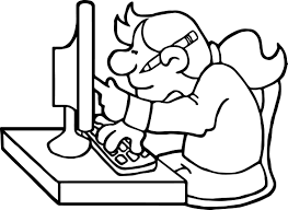 research playing computer games coloring page wecoloringpage