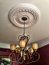 Light Fixture Ceiling Medallion by Who Should Install Ceiling Medallions Electrician Talk