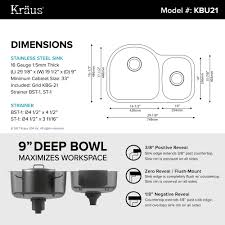 Kitchen Sink Cabinet Size Stainless Steel Kitchen Sinks Kraususa Com