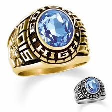 highschool class ring men s 14k gold designer medalist high school class ring by