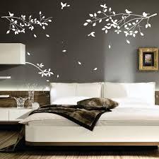 bedroom dark grey artsitic tree stem wallpaper in bedroom wall