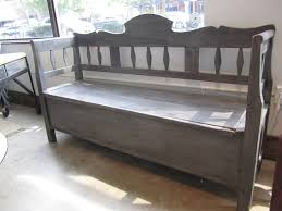 Gray Storage Bench Antique Bench With Storage Vintage Storage Bench Hallways