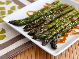 roasted sesame asparagus healthy easy vegan recipe