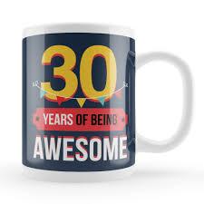 30th mug 30th birthday present idea unique 30 year