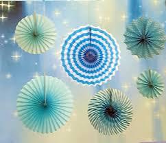paper fan decorations my party suppliers baby shower paper fan decorations 6pcs