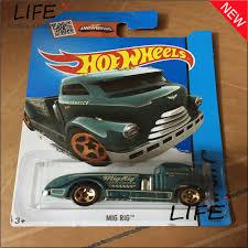 free shipping wheels mig rig green car models metal diecast