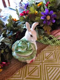 my easter bunny a graceful table bunnies in the cabbage patch