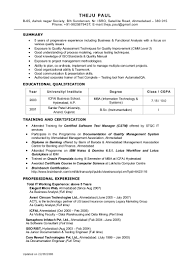 Educational Qualification In Resume Format Resume Objective For Banking Sector Virtren Com