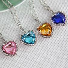 titanic blue heart necklace images Classic zircon titanic ocean heart necklace sapphire dark blue jpg