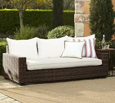 Outdoor Sofa Bed Torrey All Weather Wicker Square Arm Sofa Espresso Pottery Barn