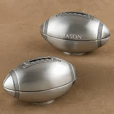 baptism piggy bank pewter football piggy bank engraved gift collection