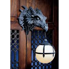 Electric Candle Sconce Marshgate Castle Dragon Sculptural Electric Wall Sconce Adorable