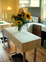 kitchen narrow kitchen cart portable island butcher block