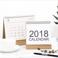 agenda bureau vintage clear 2018 calendar coil paper agenda office
