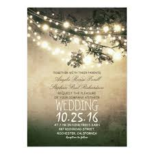 rustic tree branches and lights vintage wedding card zazzle