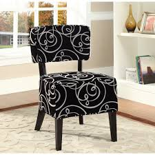 rosedale accent chair black white for my makeup vanity home