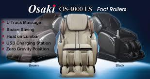Osaki 4000 Massage Chair Osaki Os 4000ls Massage Chair At Themassagechair Com