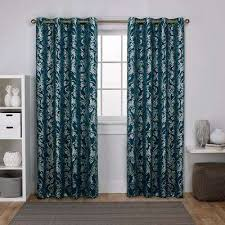 Teal Curtain Blackout Curtains Drapes Window Treatments The Home Depot