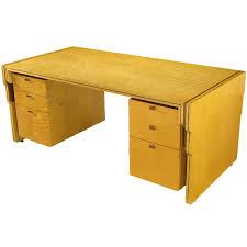 Executive Desk Pierre Paulin Bird U0027s Eye Maple And Walnut Inlay Executive Desk For