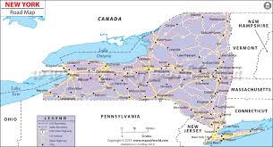map new york state new york road map ny highway map