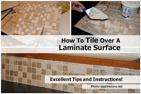 Can You Lay Tile Over Laminate Flooring How To Tile Over A Laminate Surface