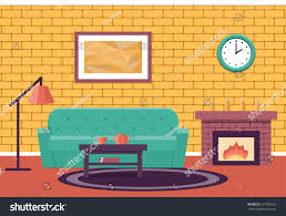 room interior vector living design lounge stock vector 577726795