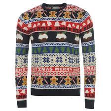 mens fair isle knit jumper all print