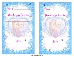 free frozen birthday party invitation and thank you printables