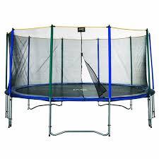 amazon com pure fun 15 foot trampoline and enclosure set