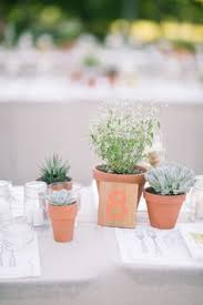 Potted Plants Wedding Centerpieces by Using Potted Plants In Your Wedding Decor Once Wed Plants