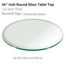 36 inch round tempered glass table top round glass table top 14 thick flat polished tempered 43 l x 43 w