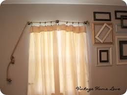 Burlap For Curtains Vintage Home Love Curtain Rod And Diy Curtains