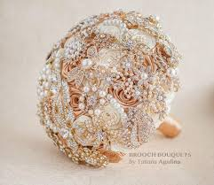quinceanera bouquets brooch bouquet ivory and gold wedding brooch bouquet jeweled